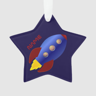 Personalized Rocket Ship Ornament