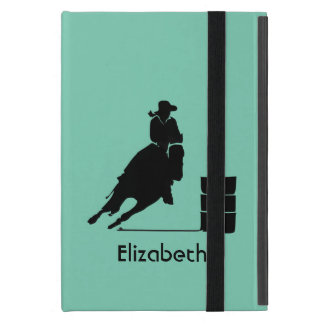 Personalized Rodeo Theme Cowgirl Barrel Racer iPad Mini Case