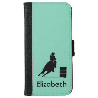 Personalized Rodeo Theme Cowgirl Barrel Racer iPhone 6 Wallet Case