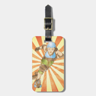 Personalized Roller Derby Girl Luggage Tag