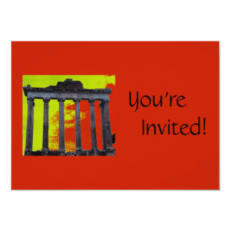 Personalized Roman Forum   Italian Dinner Party Card