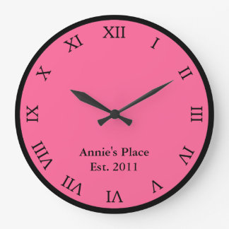 Personalized Roman Numeral Large Clock