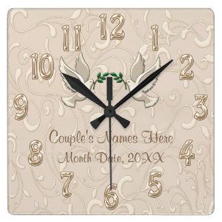 Personalized Romantic Blush Champagne Clock