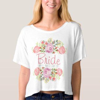 Personalized romantic floral t-shirt