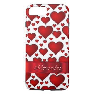Personalized romantic heart pattern iPhone 8 plus/7 plus case