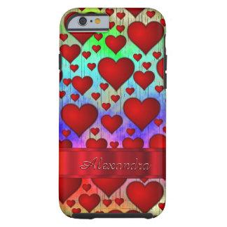 Personalized romantic heart pattern tough iPhone 6 case