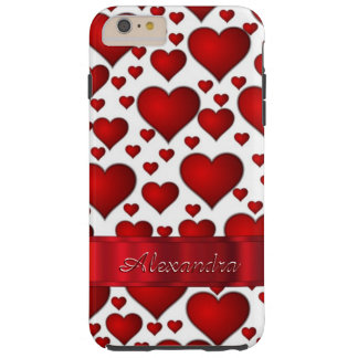 Personalized romantic heart pattern tough iPhone 6 plus case