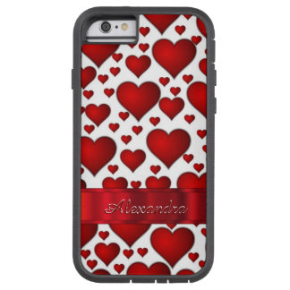 Personalized romantic heart pattern tough xtreme iPhone 6 case