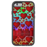 Personalized romantic heart pattern tough xtreme iPhone 6 case