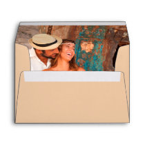 Personalized Romantic Photo Image Inside Lined Envelope