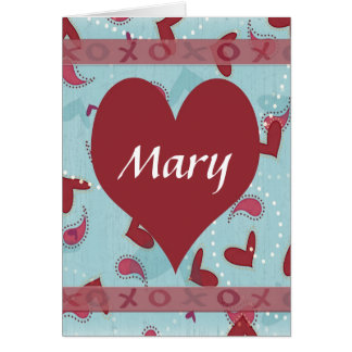 Personalized Romantic Valentine Card