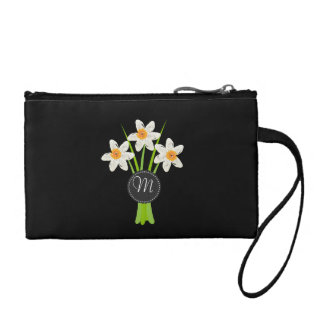 Personalized Romantic White Daffodils Bag Coin Wallet
