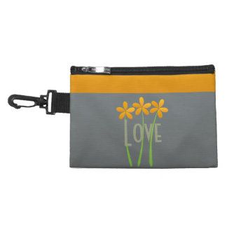 Personalized Romantic Yellow  Floral Stripes Bag