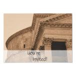 Personalized Rome Pantheon Italian Dinner Party Custom Invitation