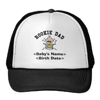 Personalized Rookie Dad Cap Trucker Hats