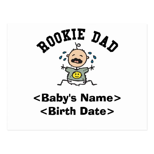 Personalized Rookie Dad Cards