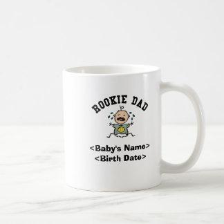 Personalized Rookie Dad Coffee Mug Mugs
