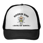 Personalized Rookie Dad T-Shirt Trucker Hat
