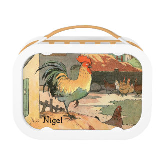 Personalized Rooster Lunch Boxes