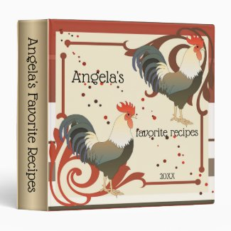 Personalized Rooster Recipe Binder