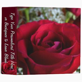 Personalized Rose Binder Red Rose Binder Large