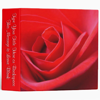 Personalized Rose Binder Red Rose School Binder Lg