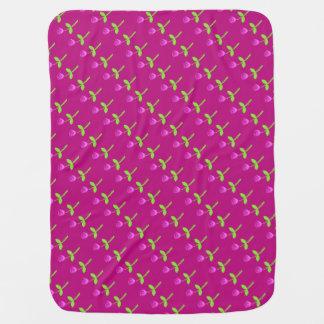 Personalized Rose Bud Pattern Swaddle Blanket