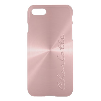 Personalized Rose Gold Stainless Steel Metallic iPhone 8/7 Case