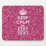 Personalized Rose Keep Calm Decor Mouse Pad
