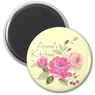 Personalized Rose Magnet