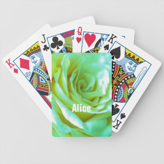 Personalized Roses Playing Cards