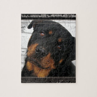 Personalized rottweiler puzzle
