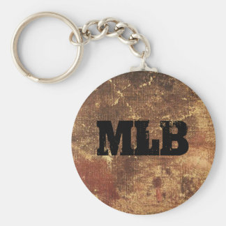 Personalized Rough and Weathered Grunge Texture Key Chain