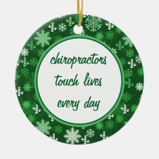 Personalized Round Chiropractor Ornaments