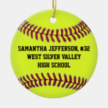 Personalized Round Softball Sports Ornament