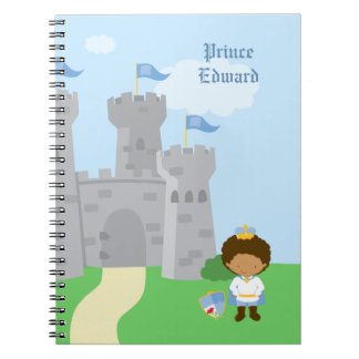 Personalized royal prince charming boys notebook