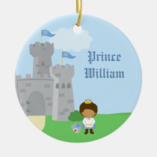 Personalized royal prince charming boys ornament