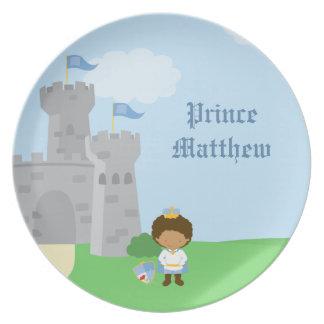 Personalized royal prince charming boys plate