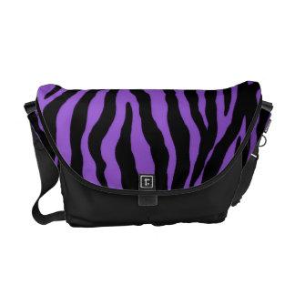 Personalized Royal Purple Tiger Stripe Courier Bag