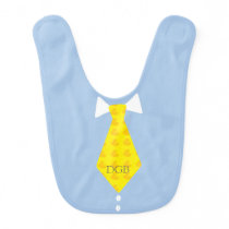Personalized Rubber Ducky Necktie Blue Bib