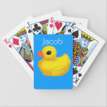 "Personalized &quot;Rubber Ducky&quot; Playing Cards<br><div class=""desc"">Bicycle Card Template</div>"