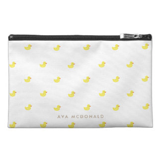 Personalized   Rubber Ducky Travel Accessory Bags