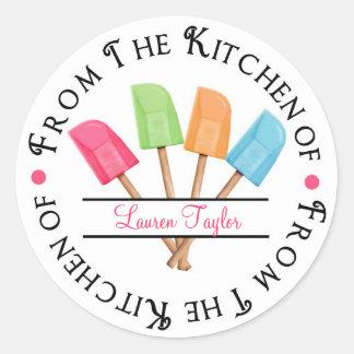 Personalized Rubber Spatula Baking  Stickers