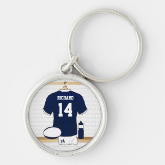 Personalized Rugby Jersey in locker room Keychain