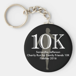 Personalized Runner 10k Cross-Country Keepsake Keychain