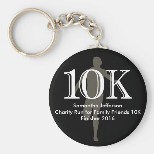 Personalized Runner 10k Cross-Country Keepsake Keychain