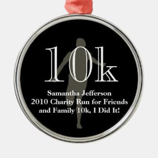 Personalized Runner 10k Cross-Country Keepsake Metal Ornament