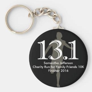 Personalized Runner 13 1 Half Marathon Keepsake Key Chains
