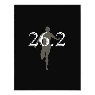 Personalized Runner Marathon Keepsake 26.2 Personalized Announcement