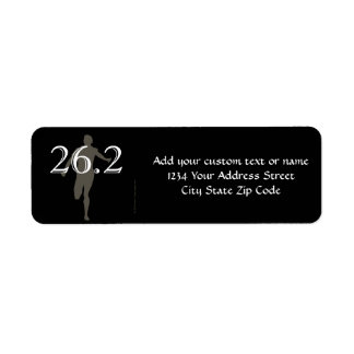 Personalized Runner Marathon Keepsake 26 2 Custom Return Address Label